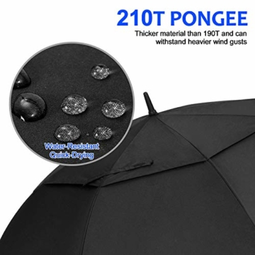 FIXM Golfschirm 172 cm Bogenlänge 153cm Durchmesser Golf Regenschirm, Automatisch Öffnen Golfschirm, Belüftete Doppelbespannung, Wasserdicht, rutschfest & Langlebig, Perfekt gegen Wind, Regen & Sonne - 6