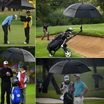 FIXM Golfschirm 172 cm Bogenlänge 153cm Durchmesser Golf Regenschirm, Automatisch Öffnen Golfschirm, Belüftete Doppelbespannung, Wasserdicht, rutschfest & Langlebig, Perfekt gegen Wind, Regen & Sonne - 7