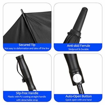 FIXM Golfschirm 172 cm Bogenlänge 153cm Durchmesser Golf Regenschirm, Automatisch Öffnen Golfschirm, Belüftete Doppelbespannung, Wasserdicht, rutschfest & Langlebig, Perfekt gegen Wind, Regen & Sonne - 8