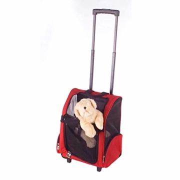 GOODS+GADGETS All Pets United Hunde-Trolley Kleintier Transportbox für Hunde und Katzen Tier-Trolley Haustier-Rucksack mit Teleskoparm - 2