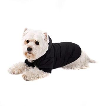 GOODS+GADGETS Schwarzer Hundemantel mit Kapuze; Schicke Hunde-Jacke Hundeanorak für Ihren Hund; Größe L (41cm) - 3