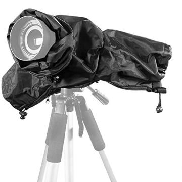 Kingwon Kamera-Regenjacke, Regenjacke, wasserdicht, Regenschutz für Canon, Nikon, Sony, Olympus, Panasonic und Pentax Digitale Spiegelreflexkameras - 3