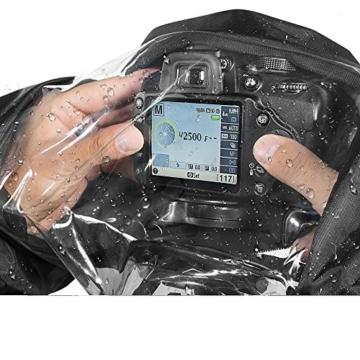 Kingwon Kamera-Regenjacke, Regenjacke, wasserdicht, Regenschutz für Canon, Nikon, Sony, Olympus, Panasonic und Pentax Digitale Spiegelreflexkameras - 5