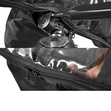 Kingwon Kamera-Regenjacke, Regenjacke, wasserdicht, Regenschutz für Canon, Nikon, Sony, Olympus, Panasonic und Pentax Digitale Spiegelreflexkameras - 8