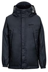 Marmot PreCip Regenjacke für Jungen, leicht, wasserdicht, Tiefschwarz, Größe S - 1