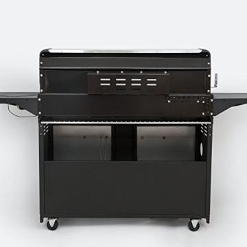 Mayer Barbecue Zunda Gasgrill MGG-361 Pro Grillwagen mit 6 Hauptbrennern, 1 Infrarot Backburner, 1 Seitenbrenner, XXL-Grillfläche 105 x 45 cm - 2