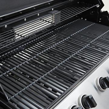 Mayer Barbecue Zunda Gasgrill MGG-361 Pro Grillwagen mit 6 Hauptbrennern, 1 Infrarot Backburner, 1 Seitenbrenner, XXL-Grillfläche 105 x 45 cm - 4