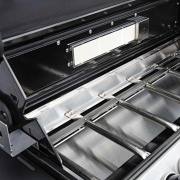Mayer Barbecue Zunda Gasgrill MGG-361 Pro Grillwagen mit 6 Hauptbrennern, 1 Infrarot Backburner, 1 Seitenbrenner, XXL-Grillfläche 105 x 45 cm - 7