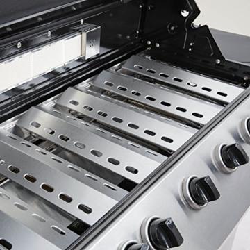 Mayer Barbecue Zunda Gasgrill MGG-361 Pro Grillwagen mit 6 Hauptbrennern, 1 Infrarot Backburner, 1 Seitenbrenner, XXL-Grillfläche 105 x 45 cm - 8