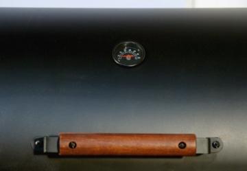 Nexos BBQ Grill Smoker Grillwagen Holzkohlegrill 2 Kammern Barbecue Transporträder Temperaturanzeige Stahlblech Lüftungsklappen Ablageflächen Verschiedene Modelle wählbar (57 kg) - 6