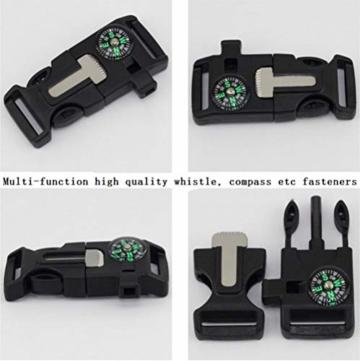 Outdoor-Uhren Multifunktion Tarnung Sportuhr Kompass Thermometer Armbanduhren für Herren Nylonband, Grün - 8