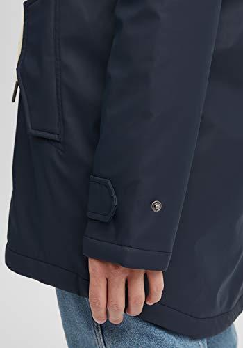 OXMO Jolina Damen Regenmantel Regenjacke Übergangsjacke, Größe:M, Farbe:Insignia Blue (194010) - 5