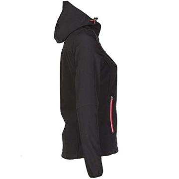 Planam Damen Sofshell Jacke Winter Unit, größe XS, schwarz / rot / mehrfarbig, 3735040 - 2
