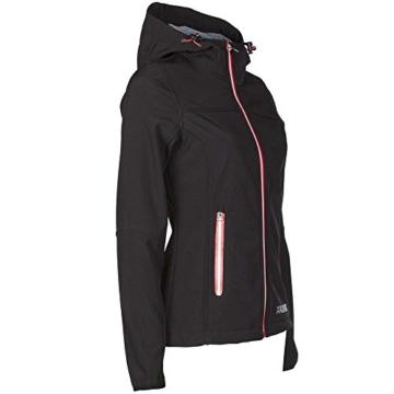 Planam Damen Sofshell Jacke Winter Unit, größe XS, schwarz / rot / mehrfarbig, 3735040 - 3