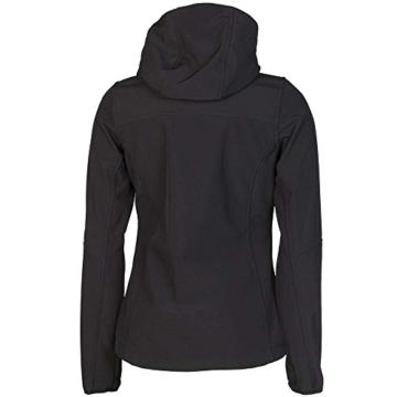 Planam Damen Sofshell Jacke Winter Unit, größe XS, schwarz / rot / mehrfarbig, 3735040 - 4