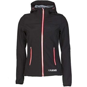 Planam Damen Sofshell Jacke Winter Unit, größe XS, schwarz / rot / mehrfarbig, 3735040 - 1