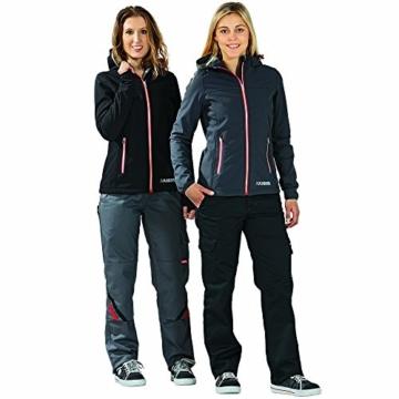 Planam Damen Sofshell Jacke Winter Unit, größe XS, schwarz / rot / mehrfarbig, 3735040 - 6