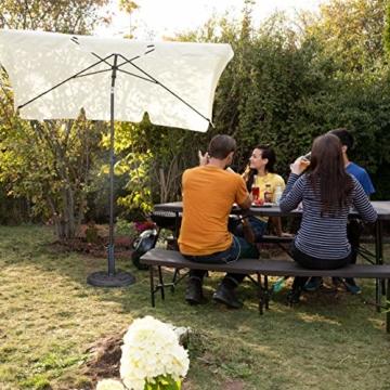 Relaxdays Sonnenschirmständer Rosen Design, für Schirmstange 35/38 / 48 mm, windfest, stabil, Kunstharz, schwarz-gold - 4