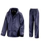 Result Kinder Regenanzug (Hose und Jacke) wasserdicht ,Navy, M M / 122/128,Navy - 1