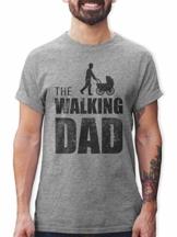 Shirtracer The Walking Dad Herren T-Shirt und Männer Tshirt (L, Grau Meliert) - 1