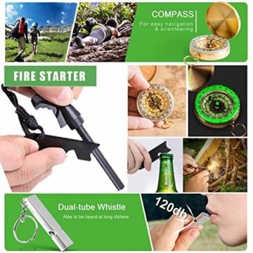 Survival Kit 24 in 1, Außen Erste Hilfe Set Männer, Freund, Ehemann, Papa oder Vater ideal Vatertagsgeschenk, für Wandern, Camping, Outdoor-Abenteuer - 7