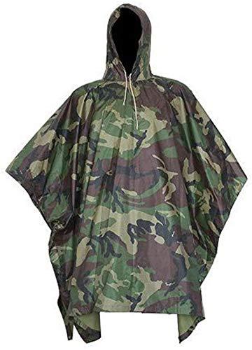 SUTON Regenponcho, wasserdichter Camouflage-Regenmantel, Outdoor-Abdeckung, Jagd, Picknick, vielseitig, leicht, bequem, Angeln, Vogelbeobachtung, Camping - 4
