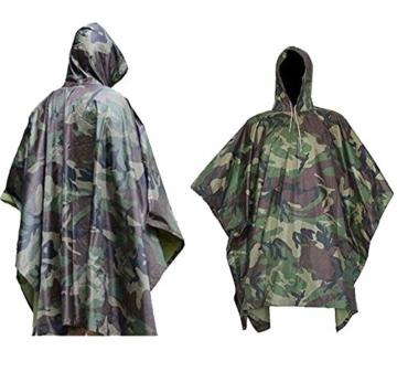 SUTON Regenponcho, wasserdichter Camouflage-Regenmantel, Outdoor-Abdeckung, Jagd, Picknick, vielseitig, leicht, bequem, Angeln, Vogelbeobachtung, Camping - 1