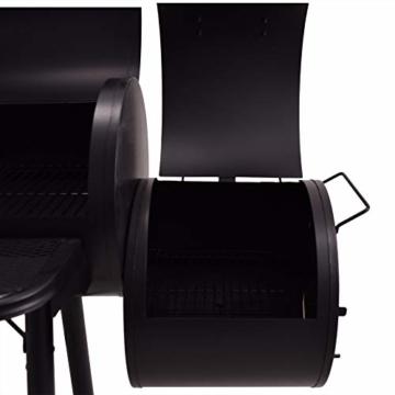 Syntrox Germany XXL Smoker Barbecue BBQ Grill Räucherofen Holzkohlegrill Grillwagen - 4
