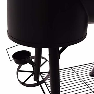 Syntrox Germany XXL Smoker Barbecue BBQ Grill Räucherofen Holzkohlegrill Grillwagen - 7