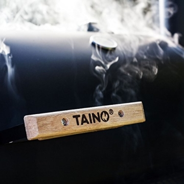 TAINO XL Smoker Bayamo BBQ GRILLWAGEN Holzkohle Grill Grillkamin Standgrill Räucherofen Grilllok - 4