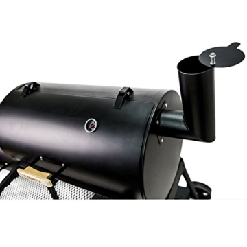 TAINO XL Smoker Bayamo BBQ GRILLWAGEN Holzkohle Grill Grillkamin Standgrill Räucherofen Grilllok - 6