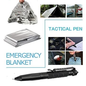 TRSCIND Survival Kit Set, Camping und Reisen - Notfall Set mit Klappmesser, Feuerstarter, Taschenlampe, Tactical Pen und Weiterem Zubehör - 7