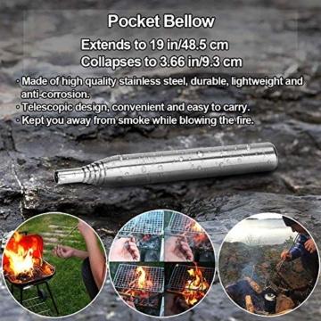 Unihoh Survival Kit 15 in 1,Außen Notfall Survival Kit mit Klappmesser, Armband, Taschenlampe,Rettungsdecke Optimal für Campen oder Wandern Outdoor Abenteuer - 2
