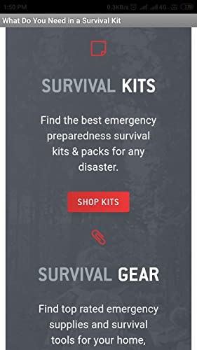 What Do You Need in a Survival Kit - 2