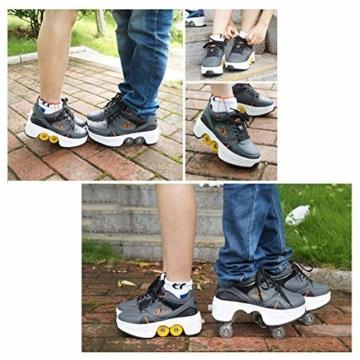 Fbestxie Multifunktionale Deformation Schuhe Quad Skate Rollschuhe Skating Outdoor Sportschuhe für Kinder Erwachsene,40 - 3