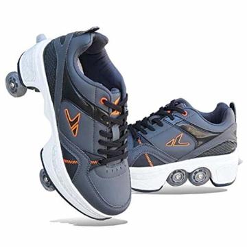 Fbestxie Multifunktionale Deformation Schuhe Quad Skate Rollschuhe Skating Outdoor Sportschuhe für Kinder Erwachsene,40 - 5