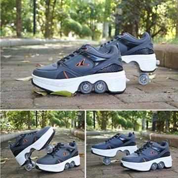 Fbestxie Multifunktionale Deformation Schuhe Quad Skate Rollschuhe Skating Outdoor Sportschuhe für Kinder Erwachsene,40 - 6