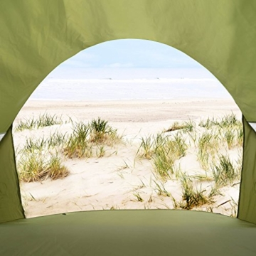 GOODS+GADGETS Canyon Cruise Strandmuschel Pop Up Strand-Zelt Windschutz am Strand Wurfzelt Blitzschnell Selbstaufbauendes Sonnensegel Outdoor Zelt Automatik Muschel mit UV-Sonnenschutz - 2