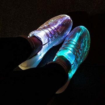 HUSK'SWARE Glasfaser LED Laufschuhe für Jungen und Mädchen Wiederaufladbare Leuchtende Schuhe für Herren und Damen - 2