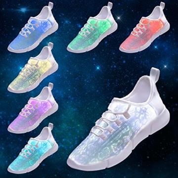 HUSK'SWARE Glasfaser LED Laufschuhe für Jungen und Mädchen Wiederaufladbare Leuchtende Schuhe für Herren und Damen - 4