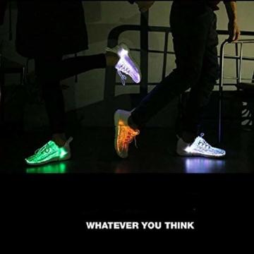 HUSK'SWARE Glasfaser LED Laufschuhe für Jungen und Mädchen Wiederaufladbare Leuchtende Schuhe für Herren und Damen - 5
