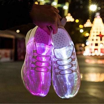 HUSK'SWARE Glasfaser LED Laufschuhe für Jungen und Mädchen Wiederaufladbare Leuchtende Schuhe für Herren und Damen - 6