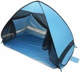Queta Strandmuschel pop up tragbar Strandzelt für 2-3 Personen UV-Schutz für Familie BBQ Strand Garten Camping - 1