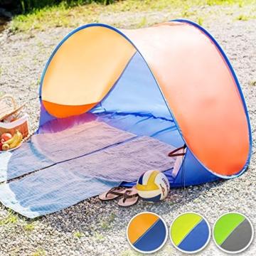 TecTake 800196 Pop Up Strandmuschel Wurfzelt 220x120x100cm mit UV Schutz - Diverse Farben - (Blau Gelb | Nr. 401680) - 3