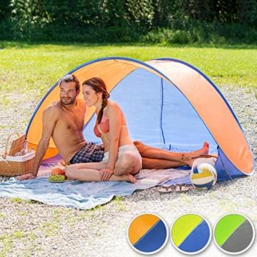 TecTake 800196 Pop Up Strandmuschel Wurfzelt 220x120x100cm mit UV Schutz - Diverse Farben - (Blau Gelb | Nr. 401680) - 4