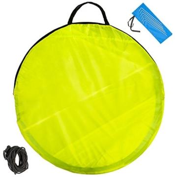 TecTake 800196 Pop Up Strandmuschel Wurfzelt 220x120x100cm mit UV Schutz - Diverse Farben - (Blau Gelb | Nr. 401680) - 5