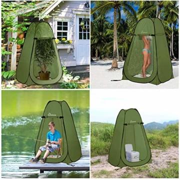 WolfWise Pop up Toilettenzelt Umkleidezelt, Camping Duschzelt Outdoor Mobile Toilette Umkleidekabine Lagerzelt - 2