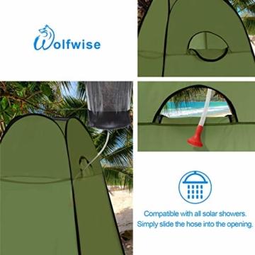 WolfWise Pop up Toilettenzelt Umkleidezelt, Camping Duschzelt Outdoor Mobile Toilette Umkleidekabine Lagerzelt - 4
