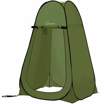 WolfWise Pop up Toilettenzelt Umkleidezelt, Camping Duschzelt Outdoor Mobile Toilette Umkleidekabine Lagerzelt - 1
