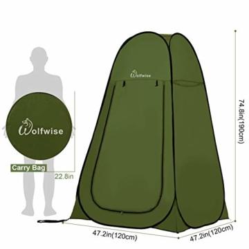 WolfWise Pop up Toilettenzelt Umkleidezelt, Camping Duschzelt Outdoor Mobile Toilette Umkleidekabine Lagerzelt - 6